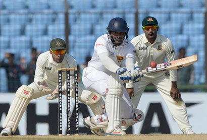 Kumar Sangakkara batting Vs Bangladesh Cricket Team