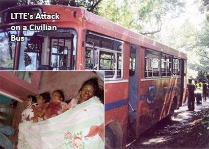 LTTE Attack on a civilian bus