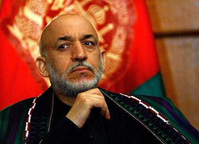 The President of Afghanistan, Hamid Karzai