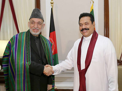 President Mahinda Rajapaksa and Afghanistan President Hamid Karzai