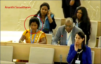 Ananthi Sasitharan is in Geneva