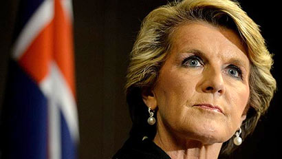 Australia Foreign Affairs Minister Julie Bishop
