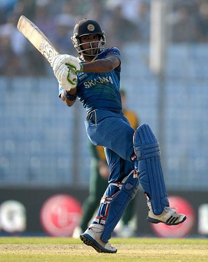 Kusal Janith Perera is batting