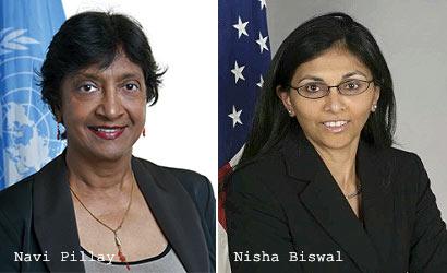 Navi Pillay and Nisha Biswal