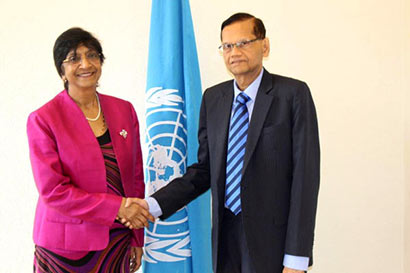 Professor G.L.Peiris with Navi Pillay
