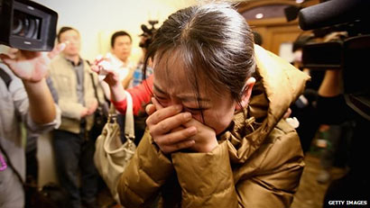 Relatives of Malaysian Airline plane MH370