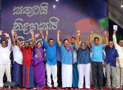 President Mahinda Rajapaksa at Galle