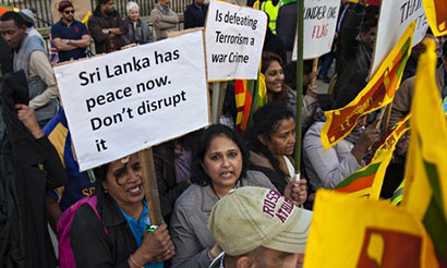 Sri Lankan people against UN resolution