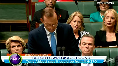 Tony Abbott on Malaysian Airline - MH370