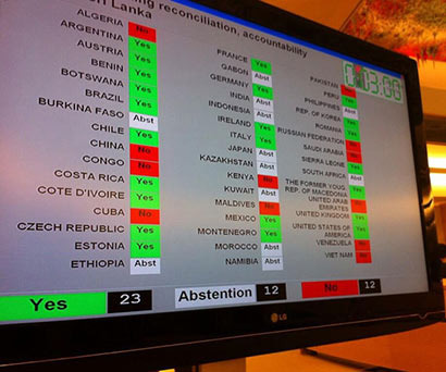 UNHRC adopts resolution on Sri Lanka