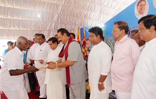 5550 farmer families in Mahaweli B and C Zones receive land deeds