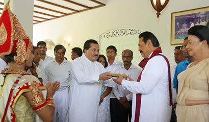 Aurudu nekath seettuwa to president Mahinda Rajapaksa
