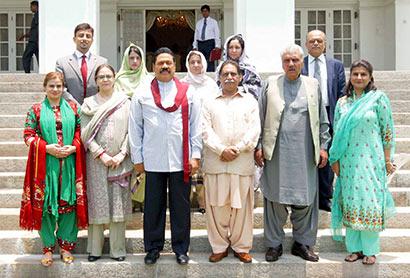 Pakistan, Mr. Mir Jan Muhammad Khan Jamali with Sri Lanka President Mahinda Rajapaksa