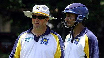Paul Farbrace with Sangakkara