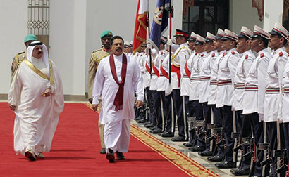 President Mahinda Rajapaksa and King of Bahrain His Majesty King Hamad bin Isa Al-Khalifa