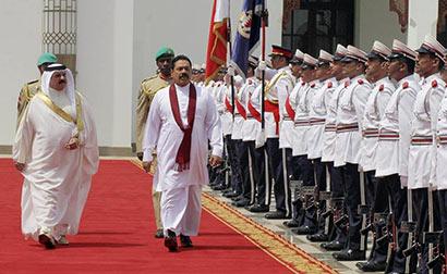 President Mahinda Rajapaksa and King of Bahrain His Majesty King Hamad bin Isa Al-Khalifa