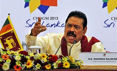 President Mahinda Rajapaksa at CHOGM 2013
