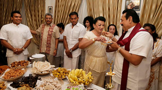 Sri Lanka's First Family celebrates traditional New Year at Carton House