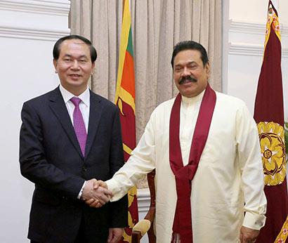 Vietnamese Minister of Public Security Prof. Gen Tran Dai Quang called on President Mahinda Rajapaksa at Temple Trees