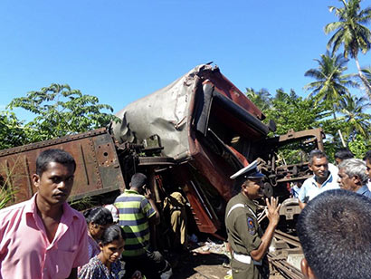 Pothuhera train accident in Sri Lanka