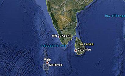 Sri Lanka - Maldives Maps