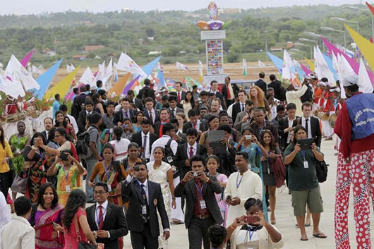 The 16th World Conference on Youth commenced in Hambantota
