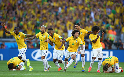 Brazil players at FIFA Worldcup 2014