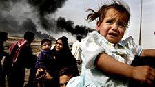 Iraqi child crying