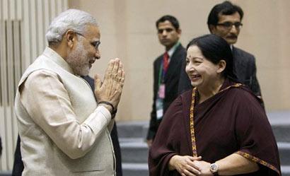 Jayalalitha with Narendra Modi