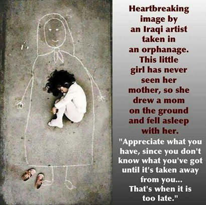 Little girl in an orphanage never seen her mother