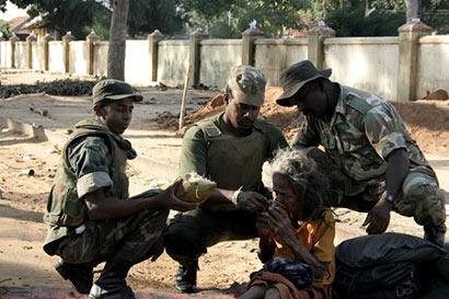 Sri Lanka Army with Tamil People