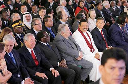 Sri Lanka President Mahinda Rajapaksa Attends Opening Session of G77+China Summit
