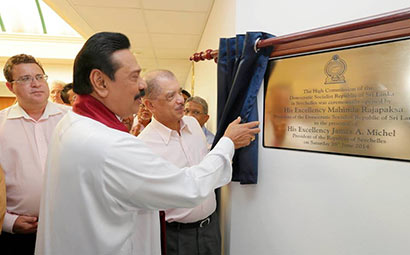 Sri Lanka President Mahinda Rajapaksa Declares Open Sri Lankan High Commission in Seychelles