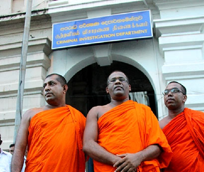 Ven. Gnanasara was addressing the media outside the Criminal Investigation Department (CID)