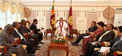 Tanzanian Foreign Minister Calls on Sri Lanka President Mahinda Rajapaksa