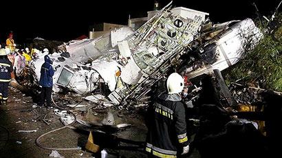 TransAsia Airways plane crashes in typhoon-hit Taiwan, killing 47