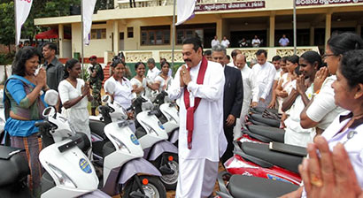 Matale Field Officers get 1000 motorcycles