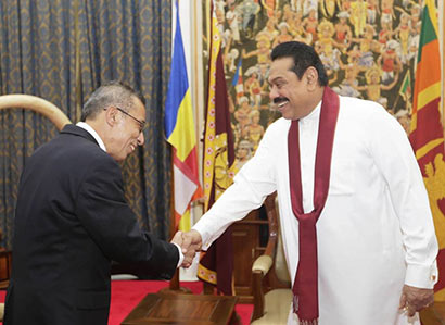 Secretary General of SAARC Calls on President Rajapaksa
