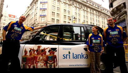 Sri Lanka Tourism Campaign Cabs in UK