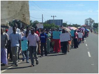 Tamil Protest