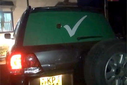 Attack on Harin Fernando vehicle