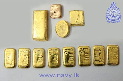 Navy seize 1.7 kilos gold hidden in dingy