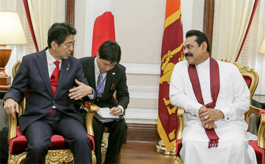 Japanese Prime Minister Shinzo Abe arrived in Sri Lanka