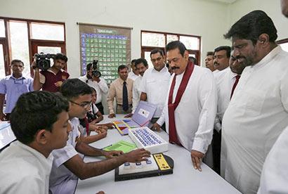 Mahindodaya Technological Laboratories (MTL) established at the Obbegoda Central College and Bakinigahawela Muslim Central College in Moneragala