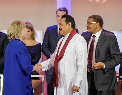 President Rajapaksa joins Hillary Clinton at CGI Annual Meeting-2014