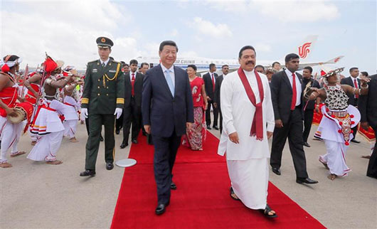President Rajapaksa welcomes President of China Xi Jinping