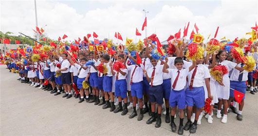 President Rajapaksa welcomes President of China Xi Jinping