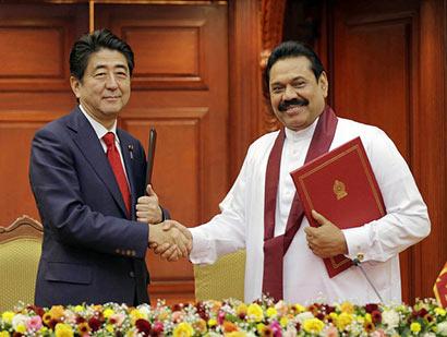 President Mahinda Rajapaksa and Prime Minister Shinzo Abe