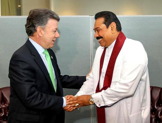 Sri Lanka President Mahinda President Rajapaksa holds bilateral talks at UN Headquarters