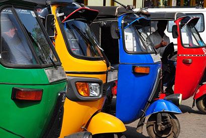 Three wheelers in Sri Lanka